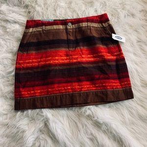 Old Navy Striped Mini Skirt